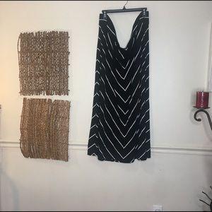 👗AVA & VIV Black Long Skirt